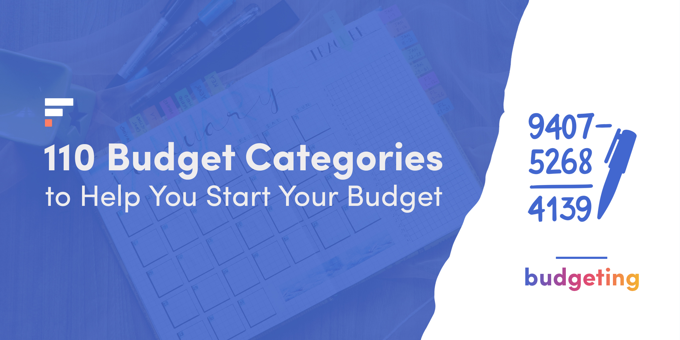 110 Budget categories
