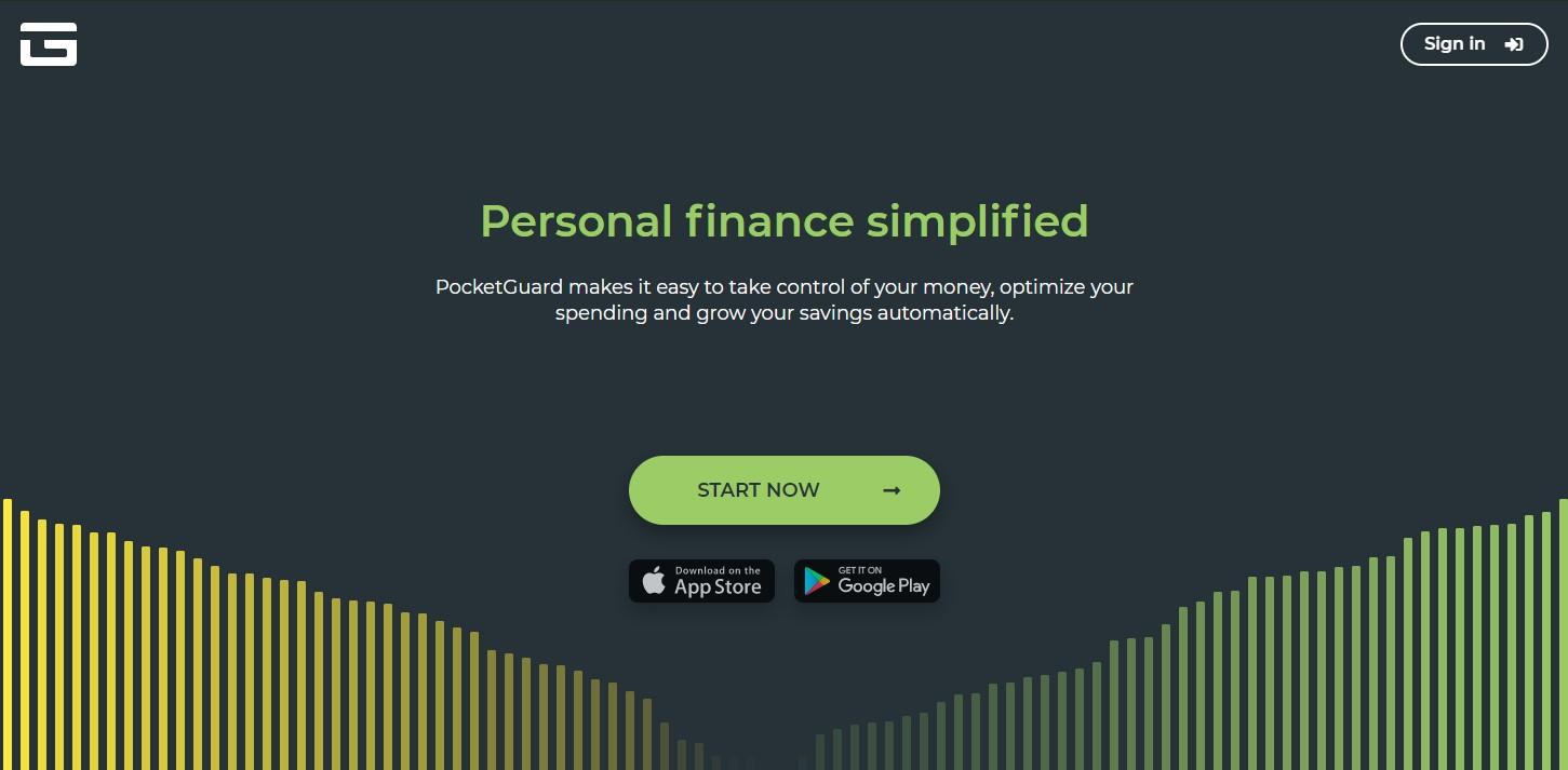 PocketGuard homepage