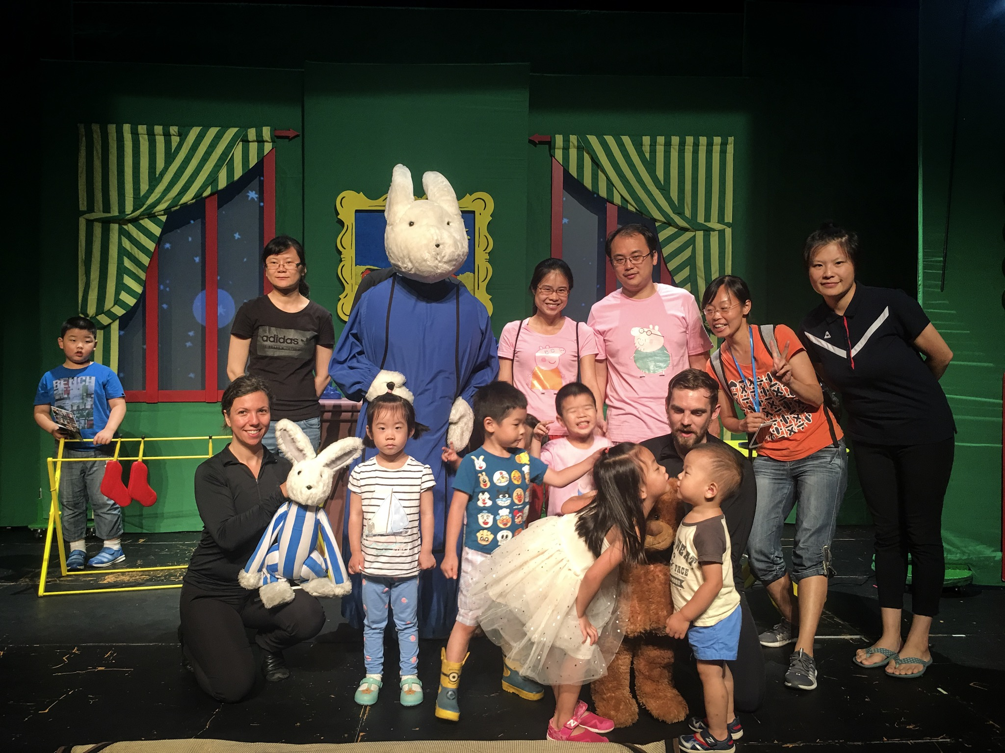 After performing a puppet show in shanghai (I'm the giant bunny)