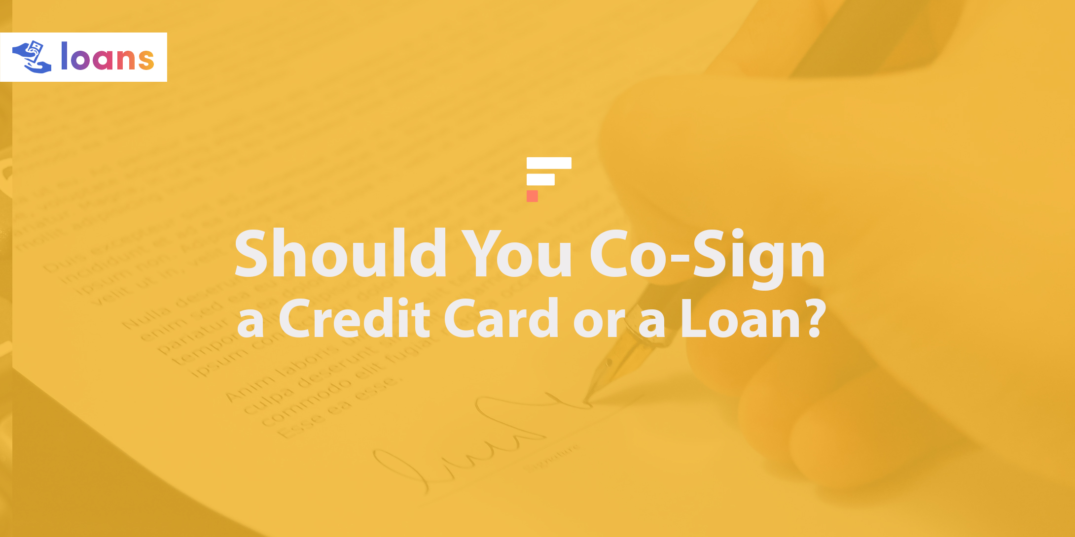 Should You Co-Sign a Credit Card or a Loan?