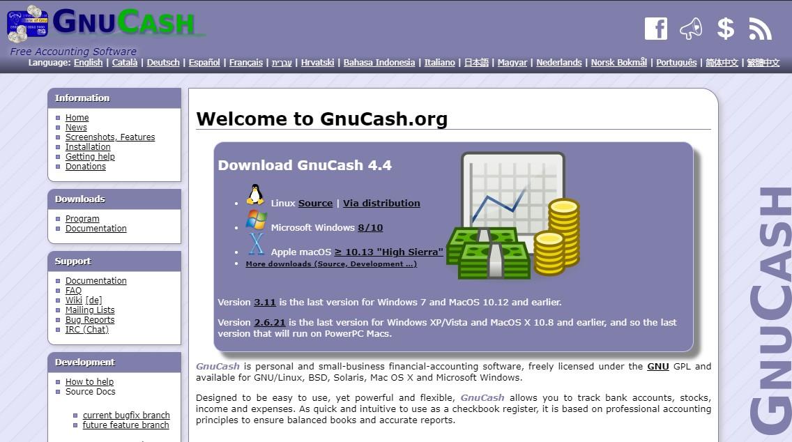 GnuCash Homepage
