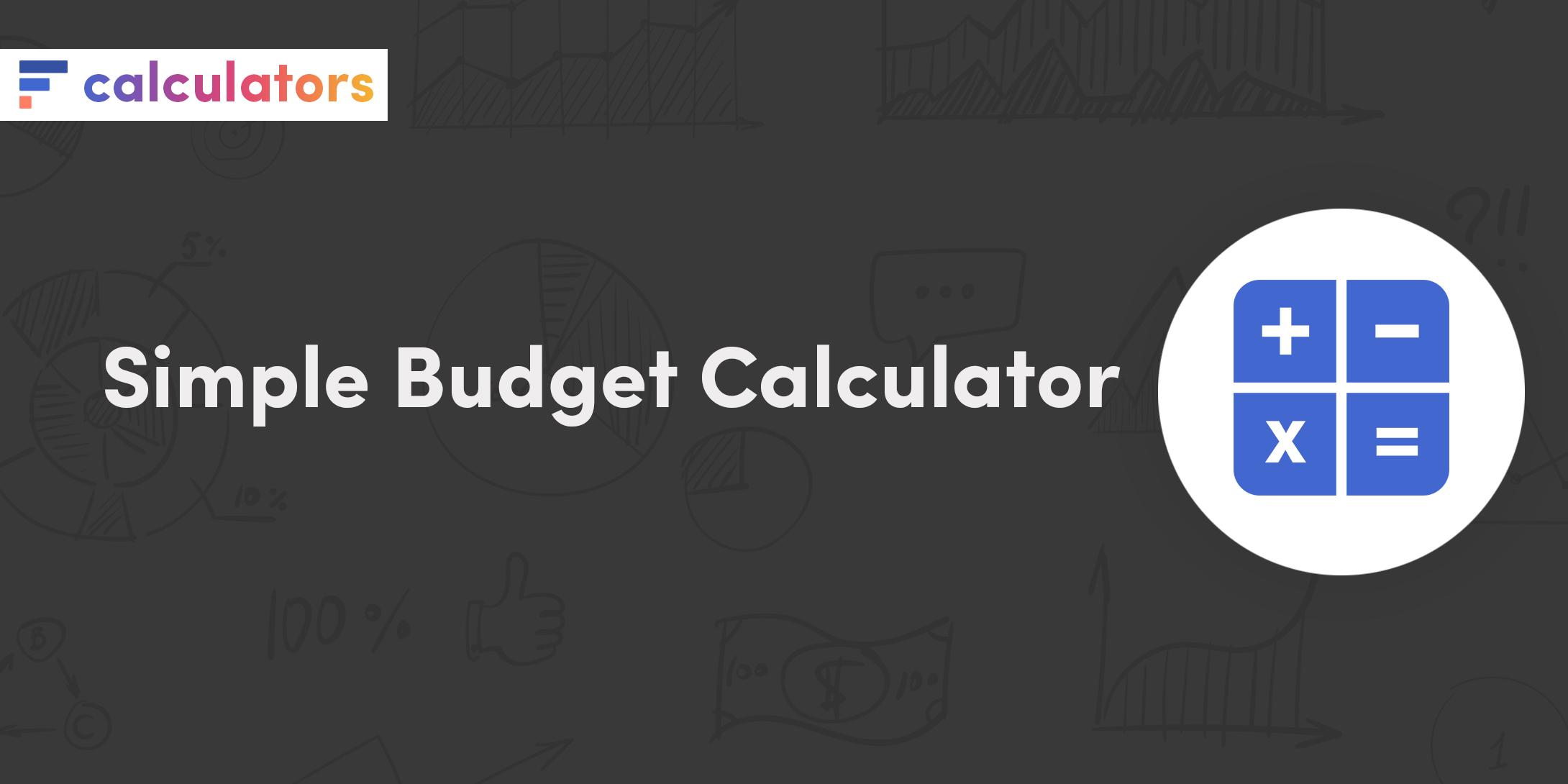 Simple budget calculator