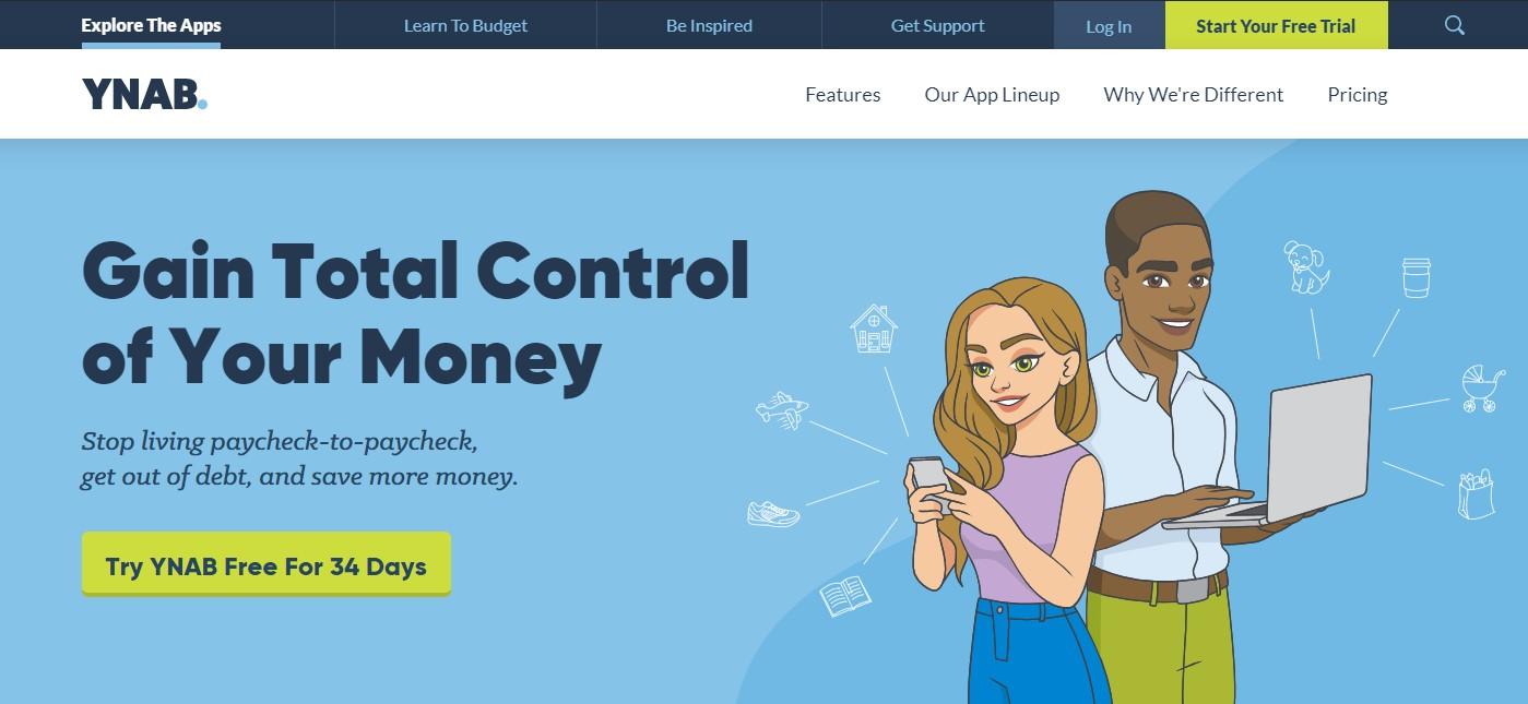 You Need A Budget Homepage