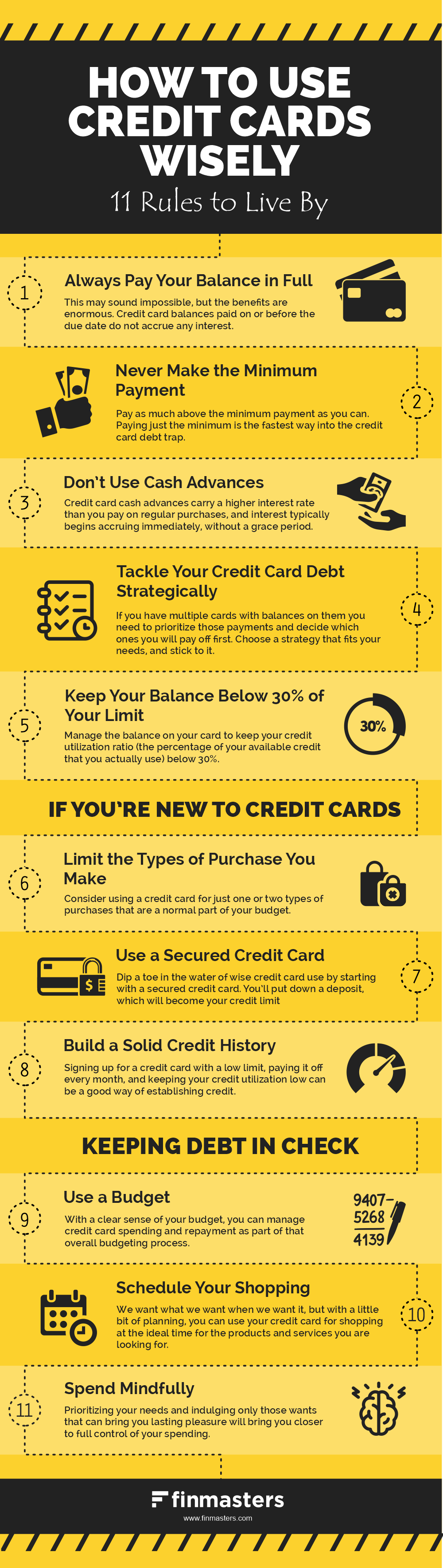 How to use credit cards wisely infographic