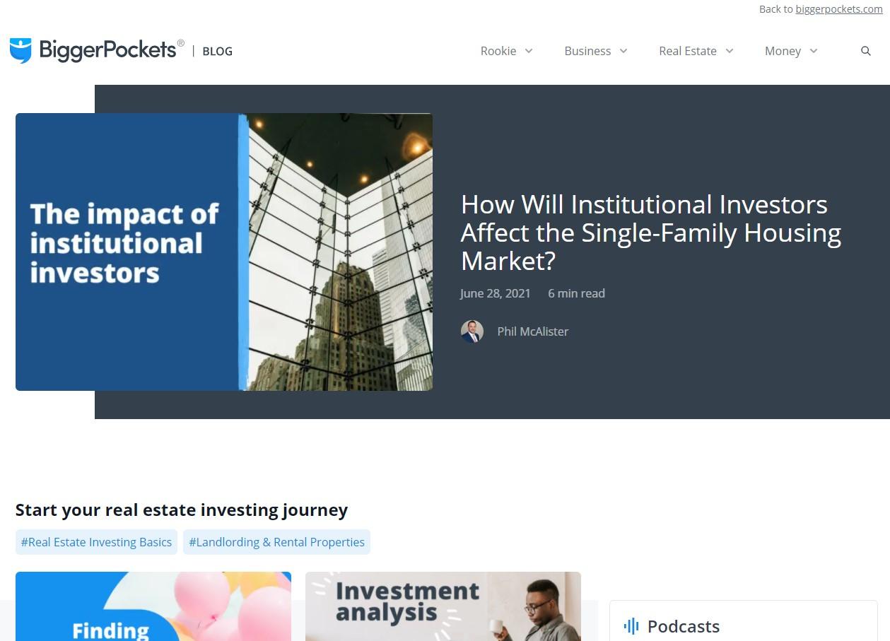 Bigger Pockets Blog