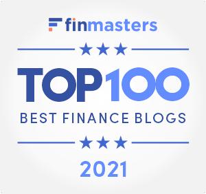 FinMasters Best Finance Blogs Badge (white big)
