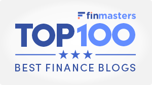 FinMasters Best Finance Blogs Badge (white small)