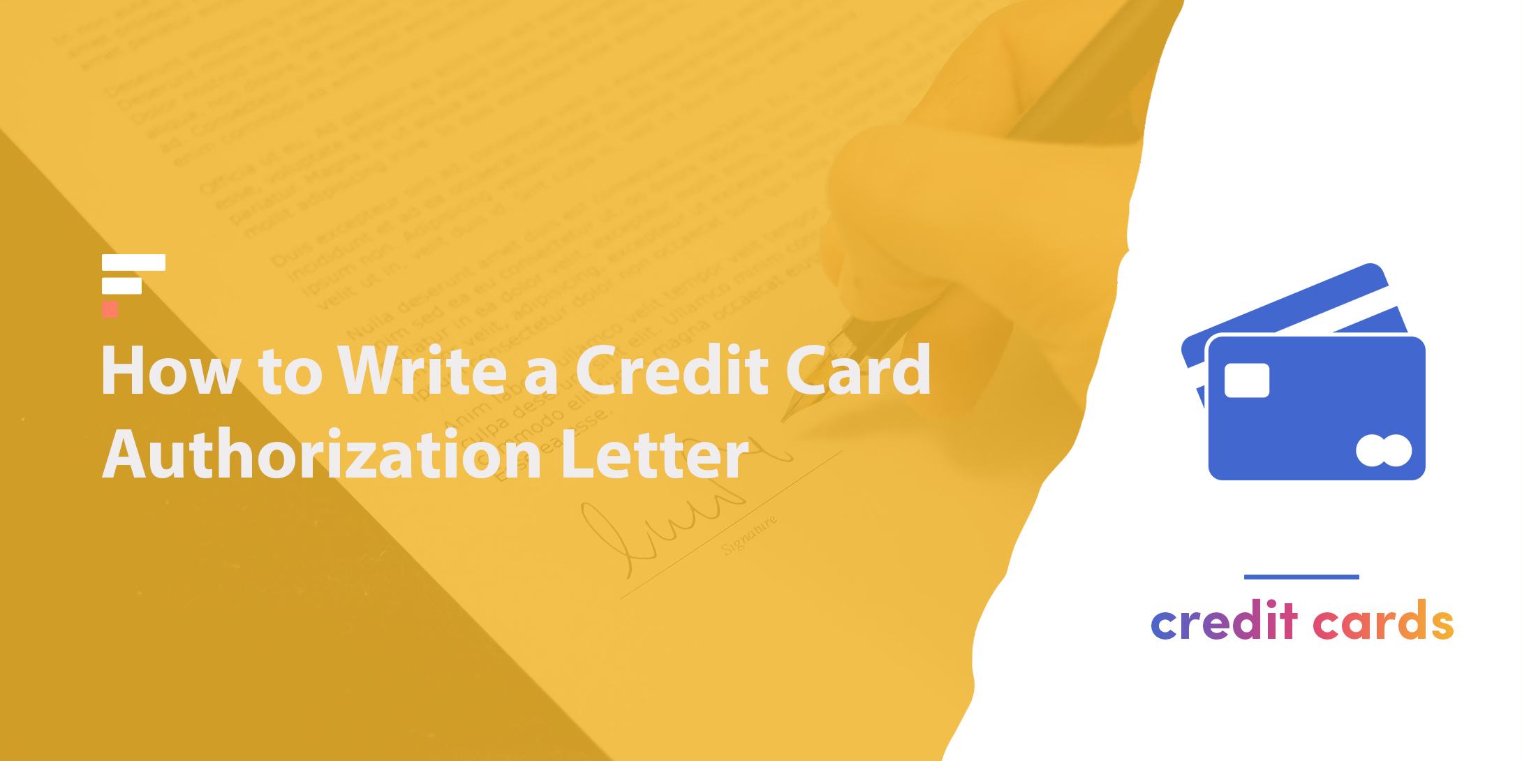 How to write a credit card authorization letter