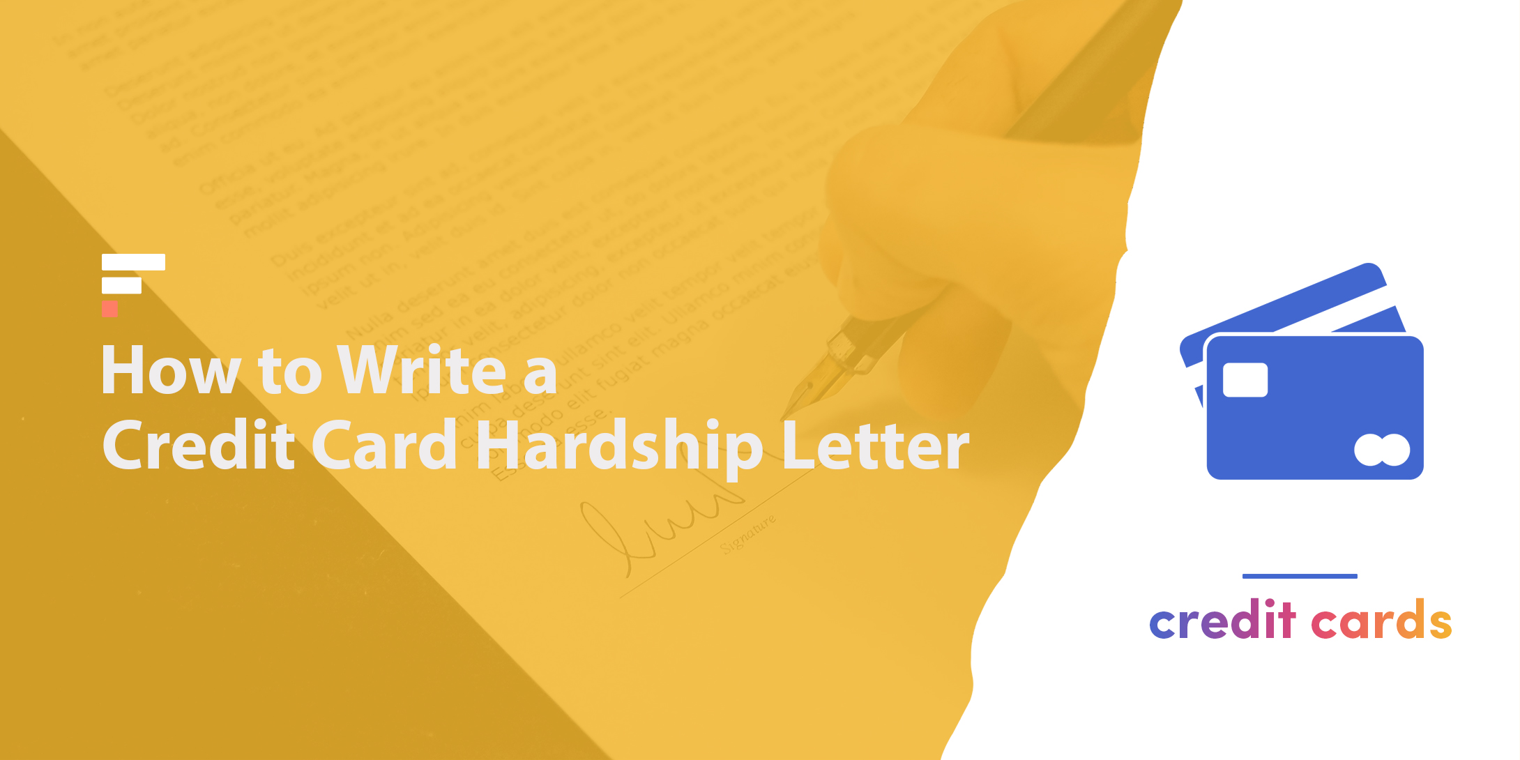 How to write a credit card hardship letter