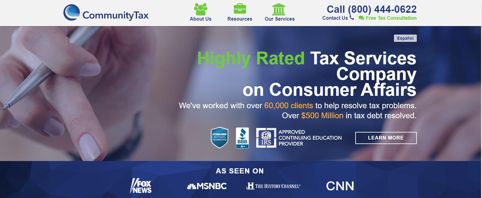 Community Tax website