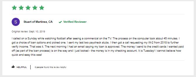 lendingtree auto loan reviews positive customer review