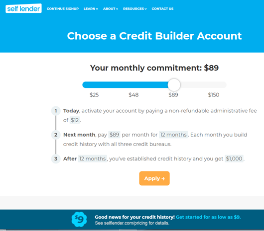 Self loan application - Step 1