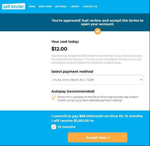 Self loan application - Step 4