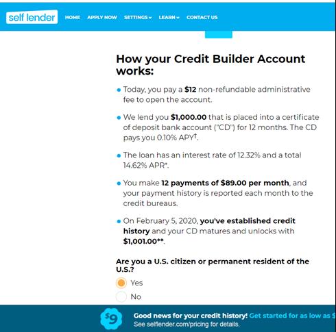 Self loan application - Step 5