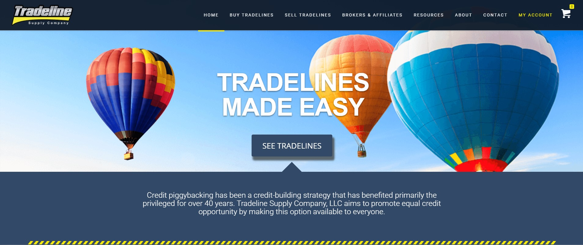 Tradeline Supply Company home page